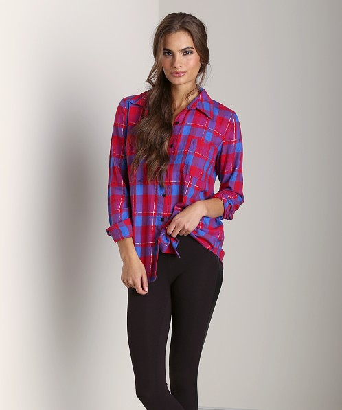 Splendid Flannel Shirt Vermillion