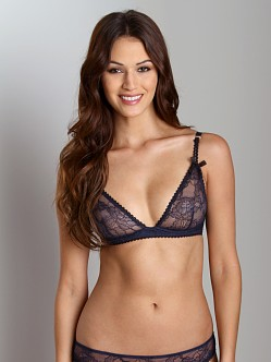 Stella McCartney Lara Stripping Underwire Bra Navy
