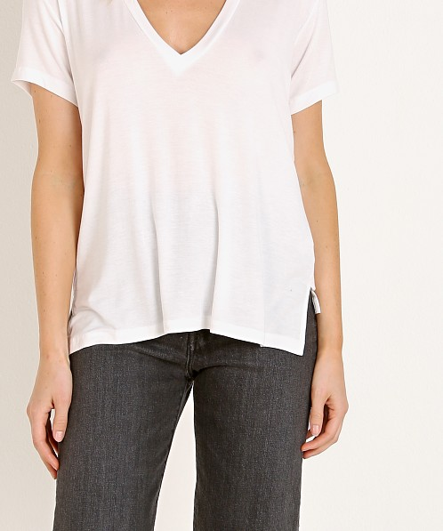 Joah Brown Classic V Neck White