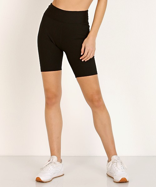 Year of Ours Ribbed Biker Short Black