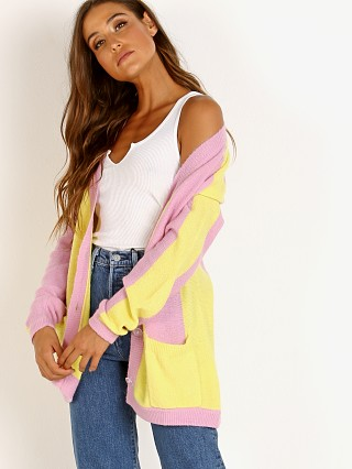 For Love & Lemons Lauryn Oversized Cardigan Candy Stripe
