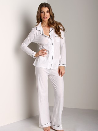 Only Hearts Organic Cotton PJ Set White