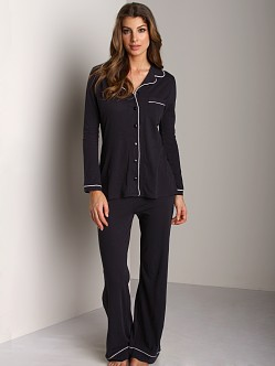 Only Hearts Organic Cotton PJ Set Navy
