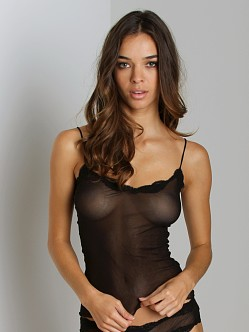 Only Hearts Tulle Cami With Lace Black