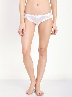 Only Hearts Tulle Brazilian Bikini White