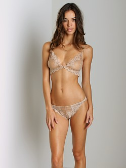 Only Hearts So Fine Lace Thong Caramel