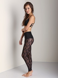 Only Hearts I Heart Lace Leggings Control Top Black