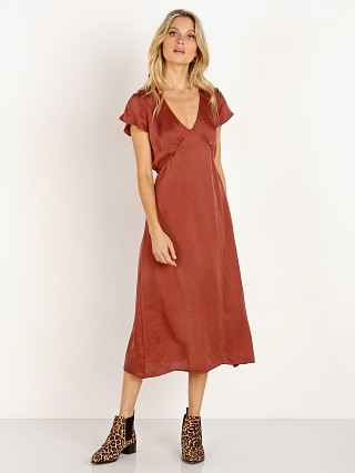 LACAUSA Vivien Dress Brick