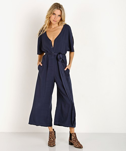 LACAUSA Ingrid Jumpsuit Midnight