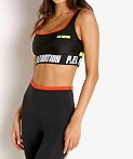 PE NATION Opponent Sports Bra Black, view 3