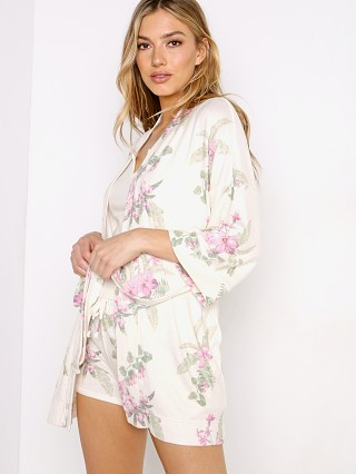 Model in bone floral Z Supply Vacay Robe