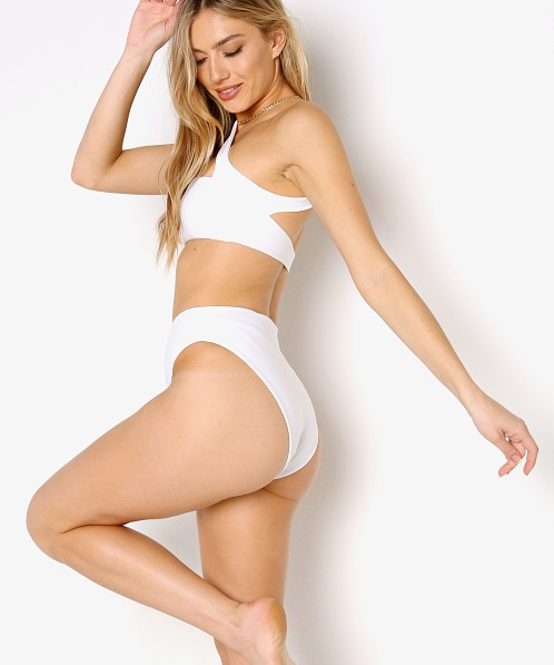 Jade Swim Incline Bikini Bottom White