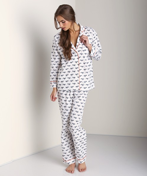 Marigot Long PJ Set Black Zebra