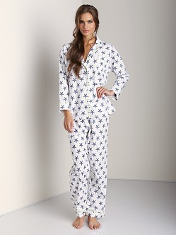 Marigot Long PJ Set Navy Starfish