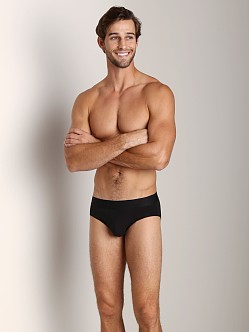 Calvin Klein Black Cotton Hip Brief Black