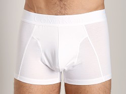 Calvin Klein Black Cotton Trunk White