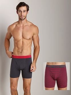 Calvin Klein Cotton Stretch 2 Pack Boxer Brief Ash & Red