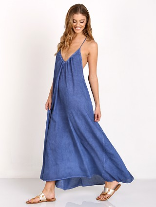 9Seed Santorini T Back Maxi with Braid Indigo