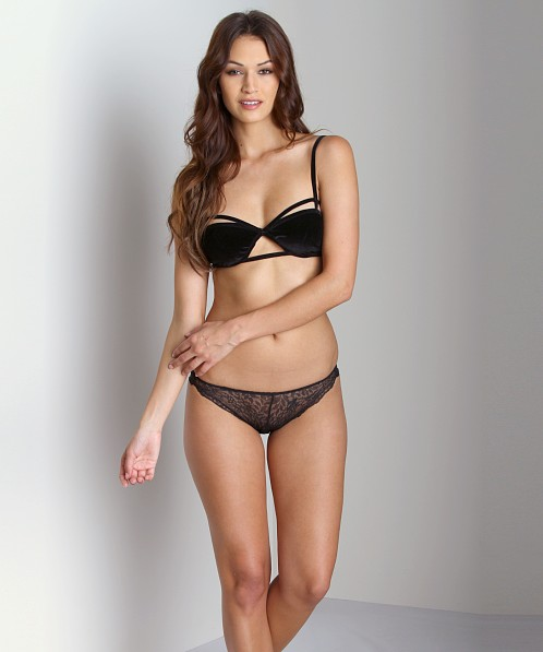 Lonely Cut Out Soft Cup Bra Velvet Black