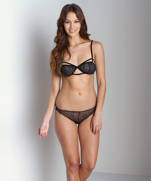Lonely Cut Out Soft Cup Bra Animal Mesh
