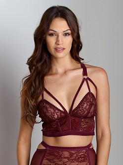 Lonely Cut Out Triangle Long Line Bra Grape