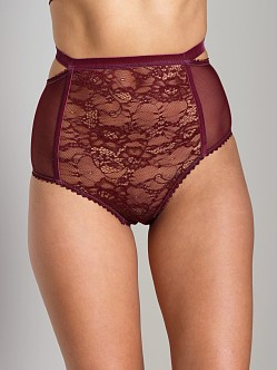 Lonely Cut Out High Waisted Brief Grape