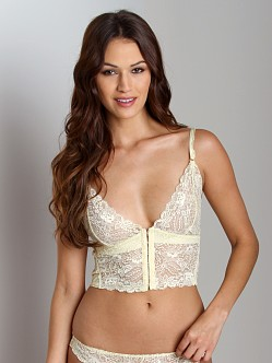 Lonely Leavers Lace Long Line Bra Butter