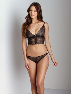 Lonely Leavers Lace Brief Black