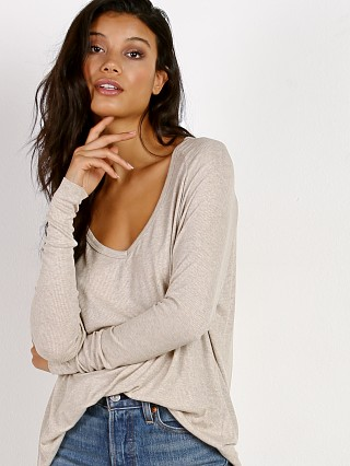 Joah Brown For Keeps V Neck Oatmeal Rib