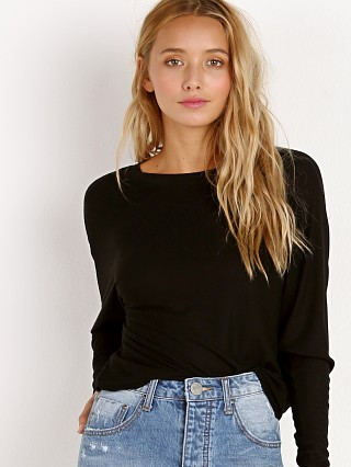 Joah Brown Vital Long Sleeve Black Rib