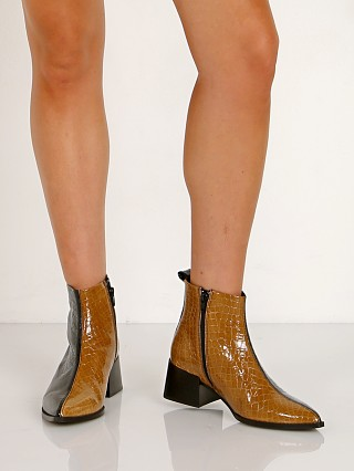 E8 by Miista Elin Boot Black/Mustard Croc