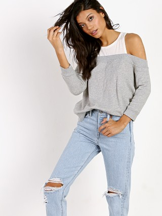 Nation LTD Highland Park Off the Shoulder Heather Grey