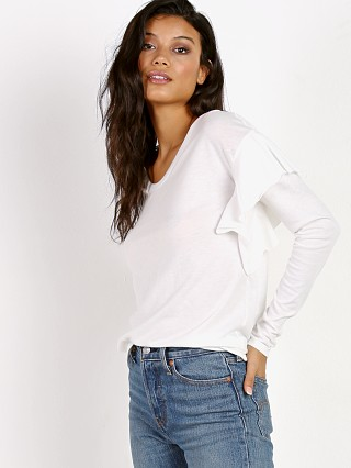 Nation LTD Tribecca Ruffle Long Sleeve Off White