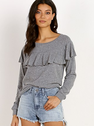 Nation LTD Valentina Ruffle Sweatshirt Heather Grey