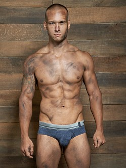 C-IN2 Filthy Lo No Show Profile Brief Denim Indigo