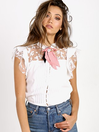 For Love & Lemons Esme Pin White Rose
