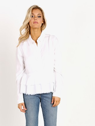 Bella Dahl Layered Peplum Shirt White
