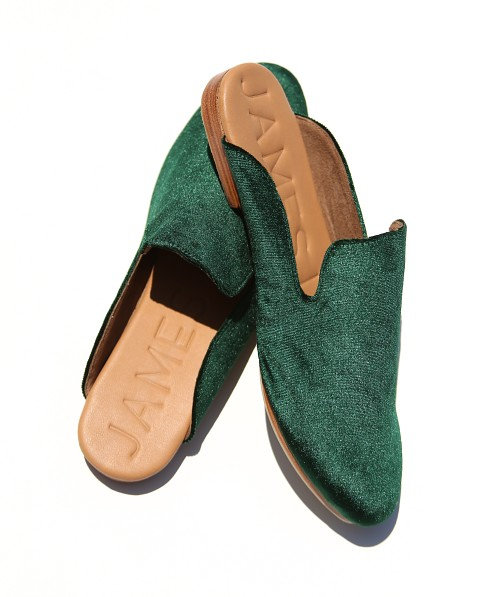 James Smith Street Slipper Verde Velvet