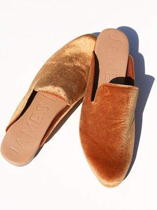 James Smith Street Slipper Tan Velvet