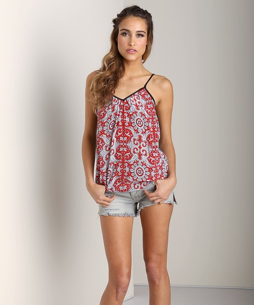 Tolani Claudia Tank Red Black