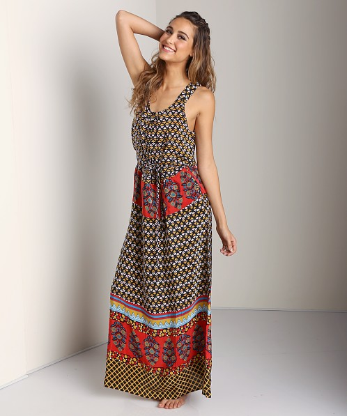 Tolani Anne Maxi Dress Black Red