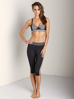 Olympia Activewear Zeus Cropped Legging Black/Taupe