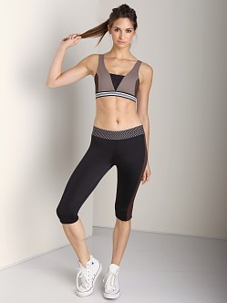 Olympia Activewear Zeus Cropped Legging Black/Brown
