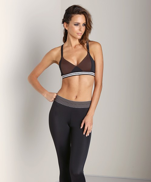 Olympia Activewear Olympia Soft Bra Black/Brown