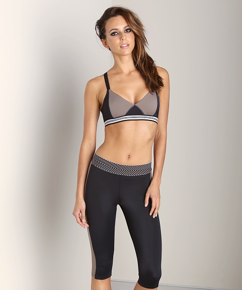 Olympia Activewear Olympia Soft Bra Black/Taupe