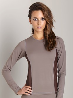 Olympia Activewear Penelope Long Sleeve Shirt Brown