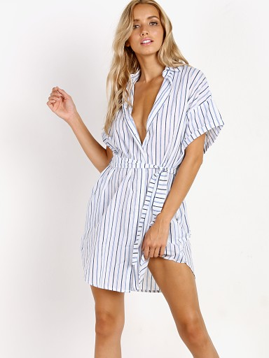 Faithfull the Brand Avalon Shirt Dress Celine Stripe