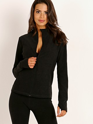 Beyond Yoga Spacedye Fitted Mock Neck Jacket Darkest Night