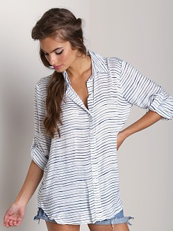 Bella Dahl Roll Sleeve Shirt Navy