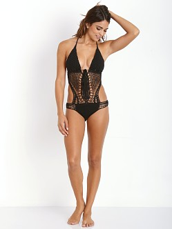 Lisa Maree Down the Garden Path Monokini Black